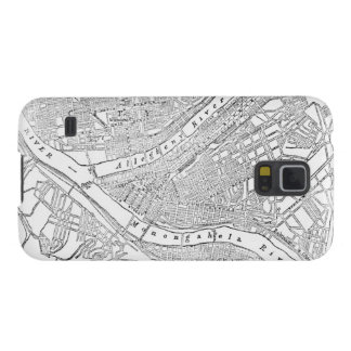 Vintage Map of Pittsburgh (1885) Cases For Galaxy S5