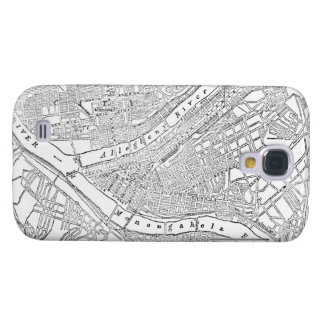 Vintage Map of Pittsburgh (1885) Galaxy S4 Covers
