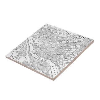 Vintage Map of Pittsburgh (1885) Ceramic Tile