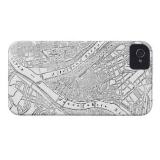 Vintage Map of Pittsburgh (1885) iPhone 4 Case-Mate Case