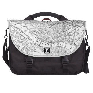 Vintage Map of Pittsburgh (1885) Laptop Computer Bag
