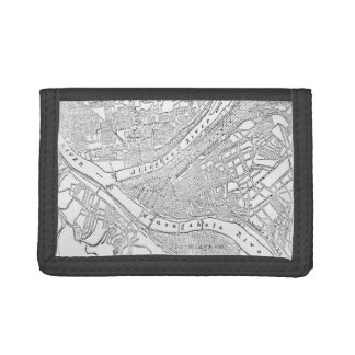 Vintage Map of Pittsburgh (1885) Tri-fold Wallets