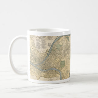 Vintage Map of Pittsburgh PA (1891) Coffee Mug