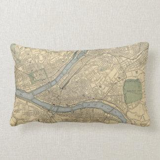 Vintage Map of Pittsburgh PA (1891) Lumbar Pillow
