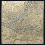 "Vintage Map of Pittsburgh PA (1891) Napkin<br><div class=""desc"">This is a vintage map of Pittsburgh Pennsylvania produced in 1891.</div>"