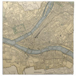 Vintage Map of Pittsburgh PA (1891) Napkin<br><div class='desc'>This is a vintage map of Pittsburgh Pennsylvania produced in 1891.</div>