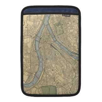 Vintage Map of Pittsburgh PA (1891) Sleeve For MacBook Air