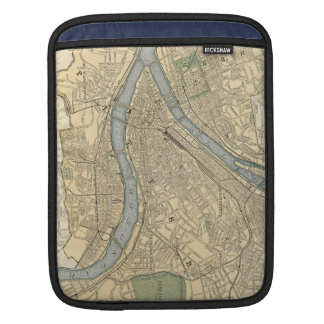 Vintage Map of Pittsburgh PA (1891) Sleeves For iPads
