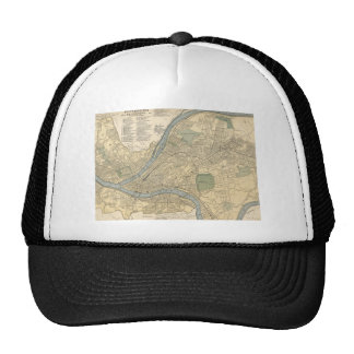 Vintage Map of Pittsburgh PA (1891) Trucker Hat