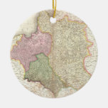 Vintage Map of Poland (1818) Double-Sided Ceramic Round Christmas Ornament