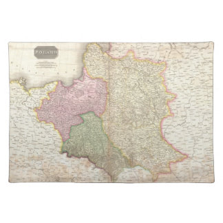 Vintage Map of Poland (1818) Cloth Placemat