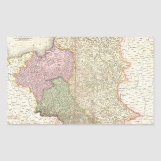 Vintage Map of Poland (1818) Rectangular Sticker