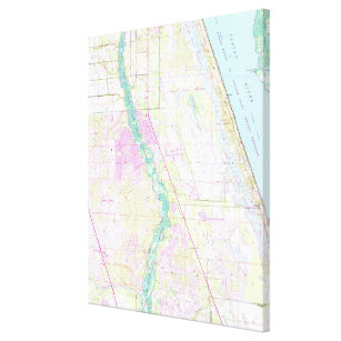 Map Of Port St Lucie Florida.Port St Lucie Art Wall Decor Zazzle