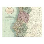 Vintage Map of Portugal (1801) Postcards