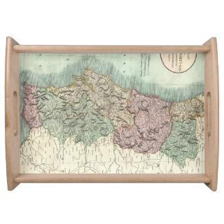 Vintage Map of Portugal (1801) Serving Tray