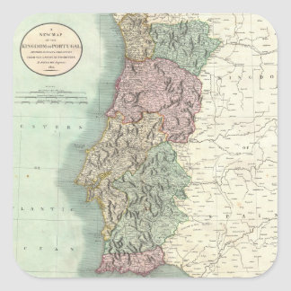 Vintage Map of Portugal 1801 Stickers