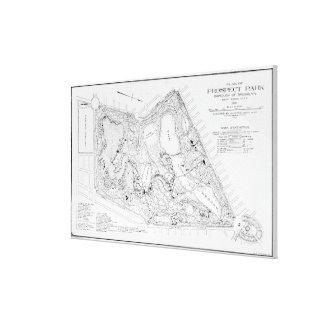 Vintage Map of Prospect Park (1901) Canvas Print
