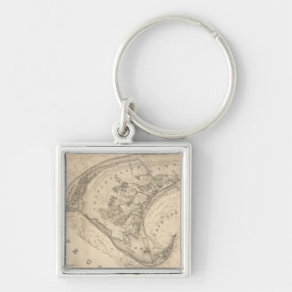 Vintage Map of Provincetown (1836) Key Chains