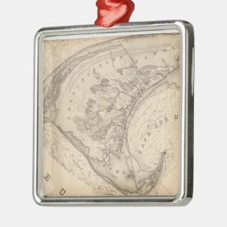 Vintage Map of Provincetown (1836) Metal Ornament