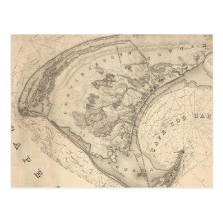 Vintage Map of Provincetown (1836) Postcard