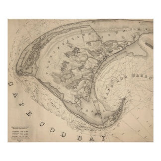 Vintage Map of Provincetown (1836) Poster