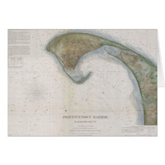 Vintage Map of Provincetown Card