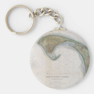 Vintage Map of Provincetown Keychain