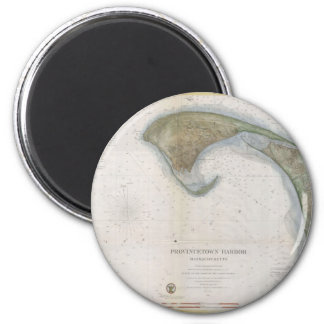 Vintage Map of Provincetown 2 Inch Round Magnet