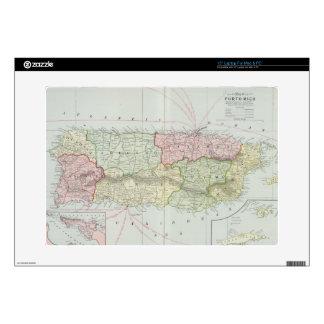 "Vintage Map of Puerto Rico (1901) 15"" Laptop Skins"
