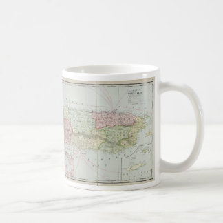 Vintage Map of Puerto Rico (1901) Coffee Mug
