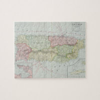 Vintage Map of Puerto Rico (1901) Jigsaw Puzzle