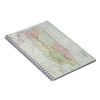 Vintage Map of Puerto Rico (1901) Spiral Note Books