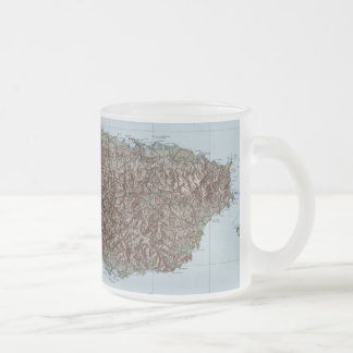 Vintage Map of Puerto Rico (1952) Frosted Glass Coffee Mug