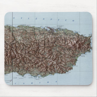 Vintage Map of Puerto Rico (1952) Mouse Pad