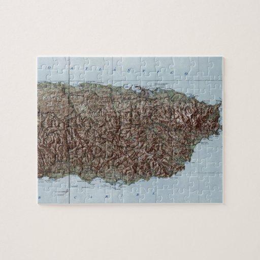 Vintage Map of Puerto Rico (1952) Puzzle