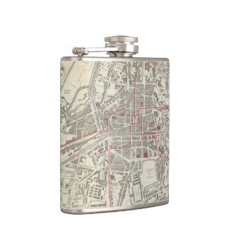Vintage Map of Rennes France (1905) Hip Flask