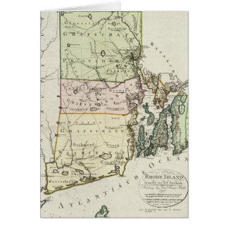 Vintage Map of Rhode Island (1797) Card