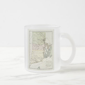 Vintage Map of Rhode Island (1797) Frosted Glass Coffee Mug
