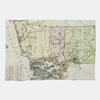 Vintage Map of Rhode Island (1797) Hand Towel