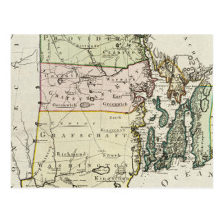 Vintage Map of Rhode Island (1797) Postcard