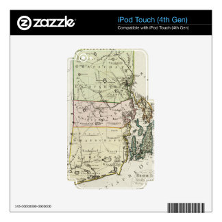 Vintage Map of Rhode Island (1797) iPod Touch 4G Skin
