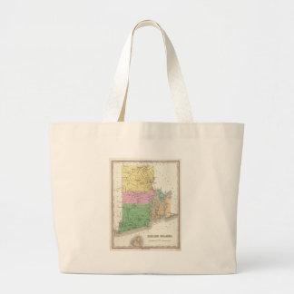 Vintage Map of Rhode Island (1827) Tote Bags