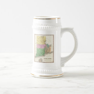 Vintage Map of Rhode Island (1827) Beer Stein