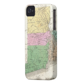 Vintage Map of Rhode Island (1827) iPhone 4 Case-Mate Case