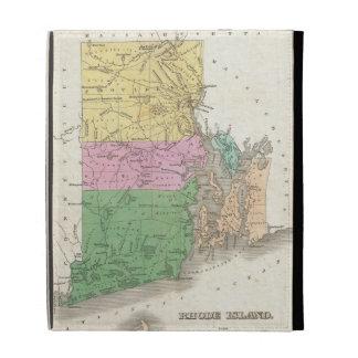 Vintage Map of Rhode Island (1827) iPad Folio Cases