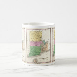 Vintage Map of Rhode Island (1827) Coffee Mug