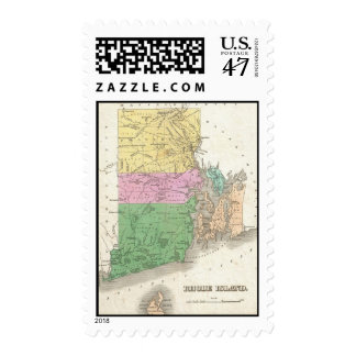 Vintage Map of Rhode Island (1827) Postage
