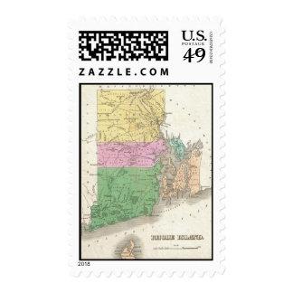 Vintage Map of Rhode Island (1827) Postage Stamps