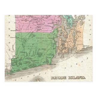 Vintage Map of Rhode Island (1827) Postcard