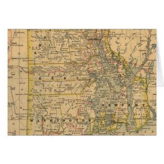 Vintage Map of Rhode Island (1875) Card